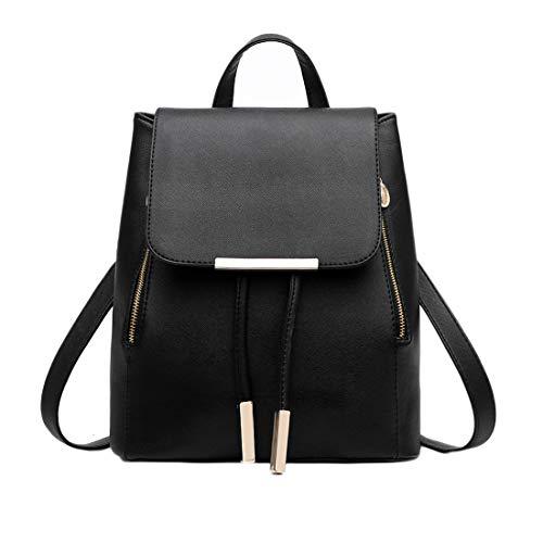 KARRESLY Women's Mini Backpack Purse PU Leather Rucksack Purse Ladies Casual Shoulder Bag for Women(Black)