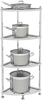 Shelf LYG Estante de Cocina Estante Estante de Esquina de Acero Inoxidable Estante de Cocina Estante de Cocina