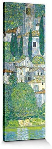 Kirche In Cassone Gardasee Poster Leinwand-Druck Gustav Klimt 70x70cm #88429