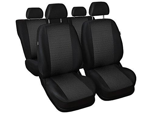Skoda Fabia Sitzbezüge nach Maß Autoplanen perfekte Passform Schonbezüge Sitzschoner Velour + Strickpolster ®Auto-schmuck (Fabia I 2/1 pr-1)