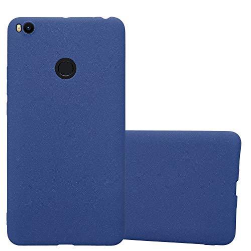 Cadorabo Funda para Xiaomi Mi MAX 2 en Frost Azul Oscuro - Cubierta Proteccíon de Silicona TPU Delgada e Flexible con Antichoque - Gel Case Cover Carcasa Ligera