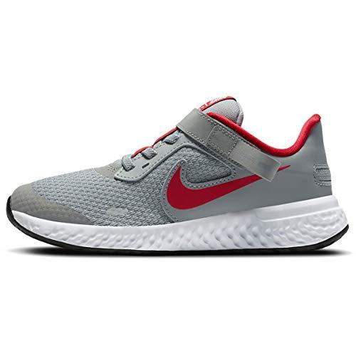 Nike Revolution 5 FLYEASE PSV CQ4648 013 Scarpa da Corsa Bambino Grigio Grigio 33 EU