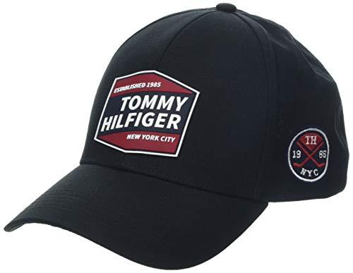 Tommy Hilfiger Herren Patches Baseball Cap, Schwarz (Black 002), One Size (Herstellergröße: OS)