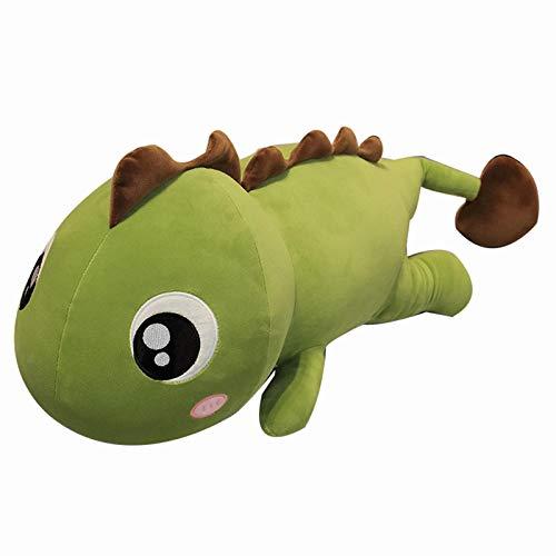 Almohada HCGS Muñeco de Peluche de Dinosaurio súper Suave de 60 cm, Juguete de Dinosaurio de Peluche de Dibujos Animados para niños, muñeca de Abrazo, Almohada para Dormir, decoración del hogar