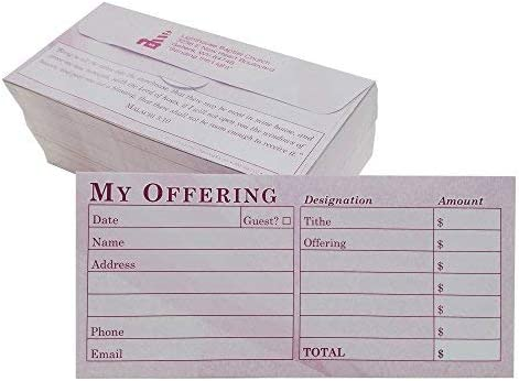 Custom Church Offering Challenge the lowest price Tithe Rare Easy- Envelopes Burgundy Donation