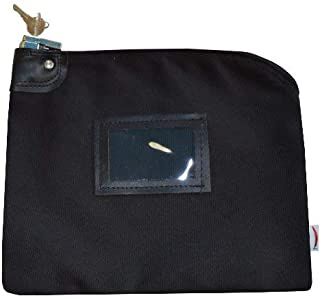 Locking Bank Bag Canvas Keyed Security (Black)