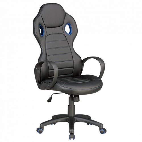 Amstyle Monza Bureaustoel, zwart/rood kunstleer, gewatteerd, X-XL, managersstoel, 120 kg, draaistoel met armleuningen, draaibare draaistoel, in hoogte verstelbaar, kantelfunctie hoofdsteun