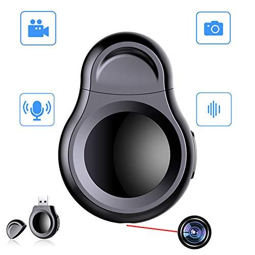 RNNTK Disco U Grabadora Tomar Audio Multifuncional Spy Camera, Reunión Grabación Cámara con Un Solo Clic Cámara Espía HD,para Familia Y Oficina El Personal Voyeur Cámara Oculta Negro 4 GB