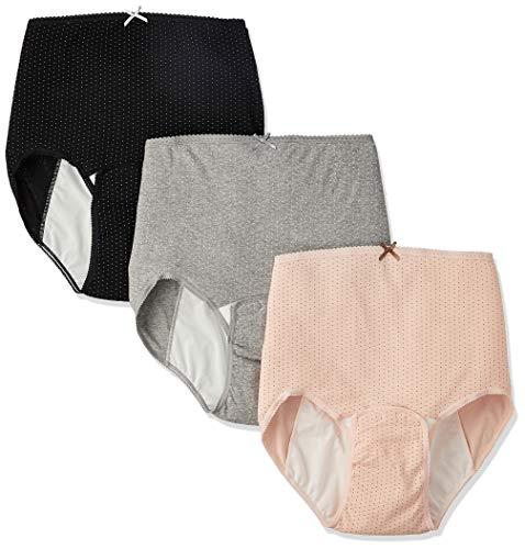 ローズマダム 産褥ショーツ3枚組 綿100% 肌ざわりがよく着け心地快適 お得セット ロングセラー 人気 出産準備 大きなサイズもあり C-BKドットPKドットGRドット LL-3L 115-0810-01-93-09