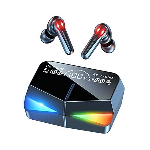GXYGXY Auriculares inalámbricos Bluetooth M28, Auriculares inalámbricos para Juegos competitivos, Auriculares Bluetooth 5.1 con, Auriculares inalámbricos para Juegos con micrófono con reducción