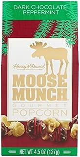 Harry & David Moose Munch Gourmet Chocolate Popcorn Holiday Special Edition 4.5 oz (Dark Chocolate Peppermint)