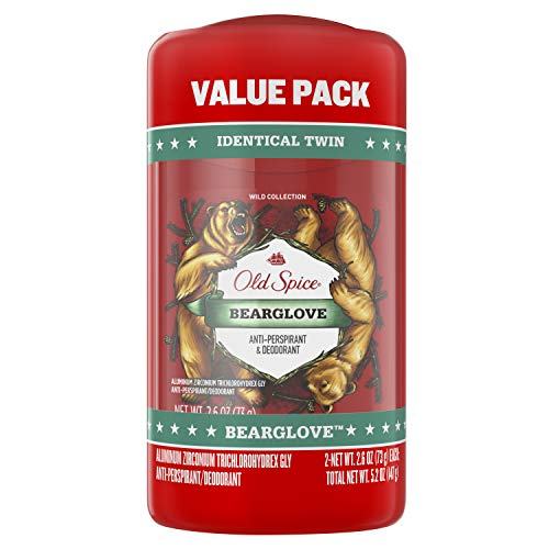 Old Spice Wild Collection Invisible Solid Antiperspirant and Deodorant, Bearglove, 2.6 Oz, Pack of 2