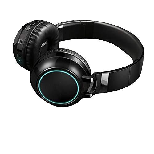 TNXB Bluetooth Draadloze Over-Ear Hoofdtelefoon met Microfoon, Geluidsisolerende Memory Foam, voor iPhone/Samsung/iPad/PC/PS4/Nintendo schakelaar, size, Zwart