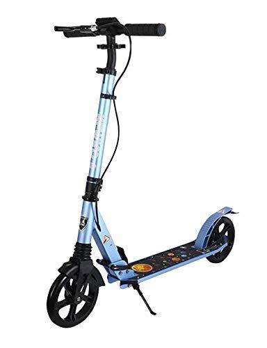 YF-Mirror Scooter para Adultos, niños, Adolescentes, Rueda Grande Duradera, suspensión de Choque y rodamientos ABEC 7 de Primera Calidad, Scooters para niños de 8 años en adelante