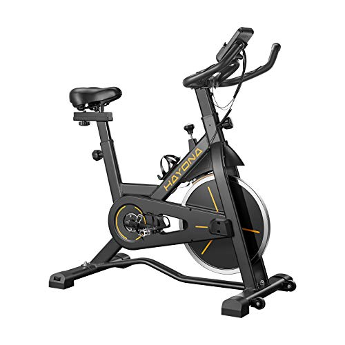 HAYONA Indoor Cycling bike- Exercise Bike Belt Drive Stationary Bike for Home Cardio...