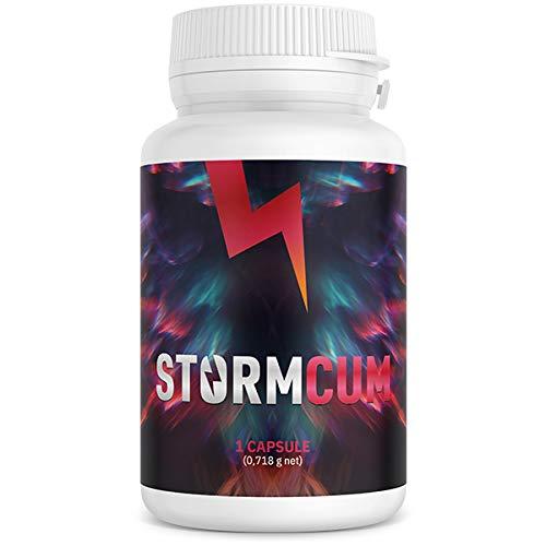 ONEBRAND – Stormcum – Ayuda para errección para hombres, aumenta el funcionamiento sexual ingredientes naturales más fuertes orgasmo, mayor libido y transporte más largo