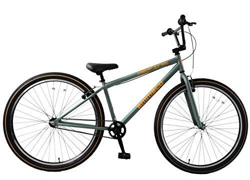 Ammaco. Cheapest Refine 29' Wheel 29er BMX Wheelie Dirt Skid Bike Large Wheel Old School Green/Orange