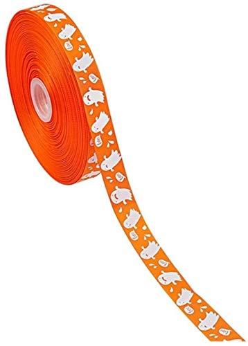 YWAWJ Halloween Theme Band Kleine Blumen-Reihe Washi Klebeband farbig gepunkteten kleine Blumen Kürbis druckte Grosgrain-Band-Haar-Bögen Festival Dekorationsmaterial (Color : 01)