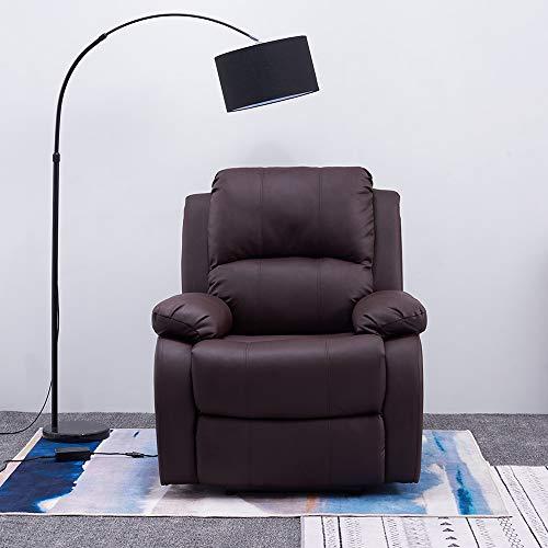 Panana - Sillón de relax eléctrico de piel sintética, respaldo y reposapiés reclinable, relax de salón, 90 cm de largo x 76 cm de ancho x 104 cm de alto.