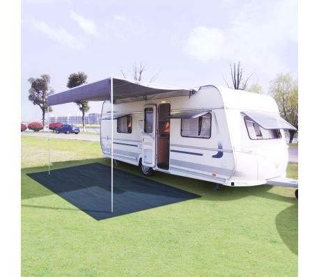 Wakects Vorzeltteppich 250x300cm Partyzelt Netzteppich für Camping Garten Rasenschutz Stoff Netz blau