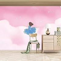 XSJ 壁紙カスタム3D壁画ステレオピンククラウドドリームプリンセス子供部屋背景壁装飾壁紙壁紙-150X105CM