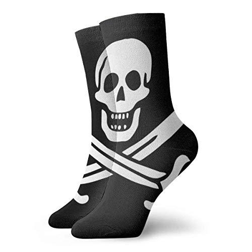 Tammy Jear Calcetines cortos para adultos con calavera pirata en blanco y negro Calcetines deportivos para hombres y mujeres Yoga Senderismo Ciclismo Running Soccer Sports