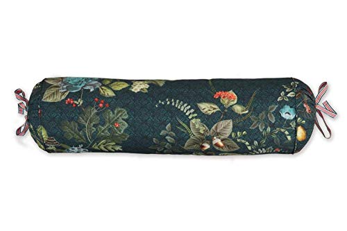 PIP Studio Fall in Leaf Neck Bolster Dark Blue 22 x 70 cm Natural Pattern Cords