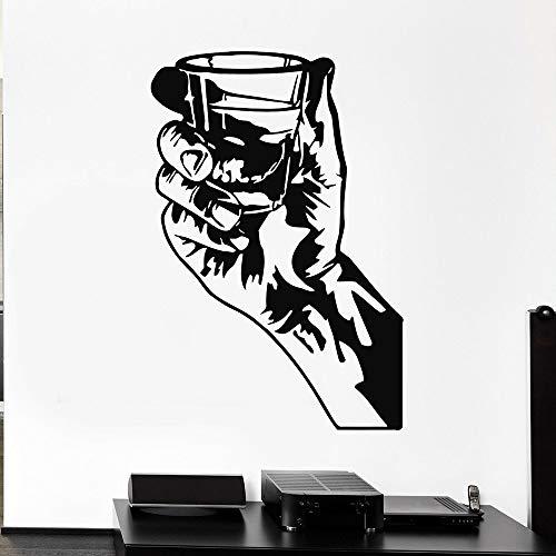 Tianpengyuanshuai muurstickers voor keuken, wijnglas, hand, party, vinyl, stickers voor bar, decoratie voor thuis, kunst