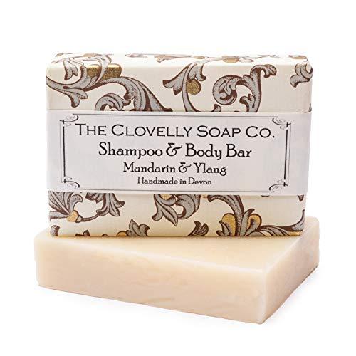 Clovelly Soap Co Natürliche handgemachte Haarseife für normales bis trockenes Haar Mandarine & Ylang-Ylang 100g