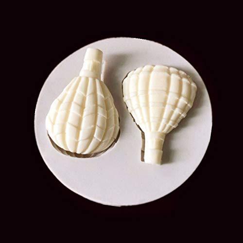 Hjbds Heißluft-Ballon-Sammlung Fondant-Silikon-Form for Schokoladen-Süßigkeit-Kuchen-Form (Color : Borgoña)