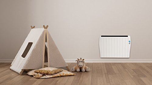 MYLEK Premium Aluminium Electric Panel Heater with Timer, Thermostat & Remote Control - Wall Mounted/Freestanding Slim White Panel Heater (1500W)