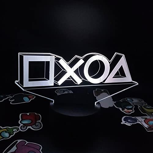 Playstation PS4 5 Xbox Gamepad 3D led ilusión luces de noche creativo...