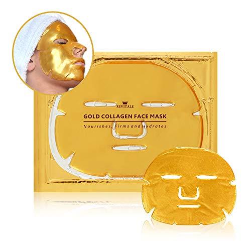 Masque pour le visage Revitale Gold 24K - Enrichi au collagène (paquet de 3)