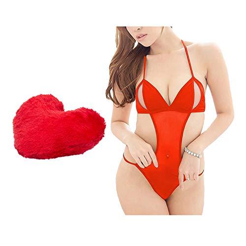 Billebon Combo Heart Pillow Red with Women Baby Doll Nightwear...