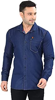 Private Image Men's Denim Meraki Single Pocket Shirts