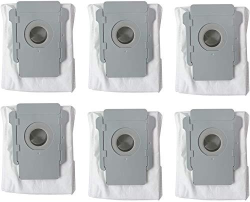 ThinkTex Paquete de 6 Bolsas de VacíO,Bolsas Eliminación automática de suciedad automáticas para iRobot Roomba i7 (7150), i7 + / Plus (7550), s9 + (9550) E5 E6 S9 S9+/S9 Plus Series Aspiradora Robot