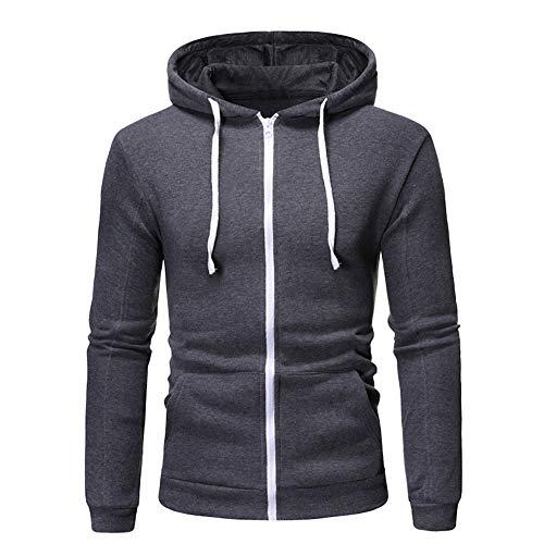 Gamlifing Men's Hoodie Hooded Sweatshirt Jumper with Hood with Fleece Men's Zip Up Sweater Zipper Jacket with Hood with Zipper Mens Full Zip Up Hoodies Cotton Pullover Hooded for Boys