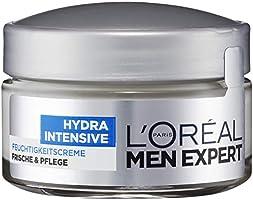 L 'Oréal Men Expert Hydra Intensieve vochtinbrengende crème, gezichtsverzorging voor gevoelige mannenhuid trekt snel en...