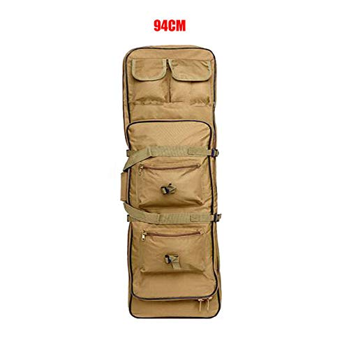 Fouos Tactical Rifle Case Military Rifle Storage Case M4 Gun Bag Pistol Airsoft Backpack for Hunting Tan 32'', 37'', 47''Inch Sizes (37'')