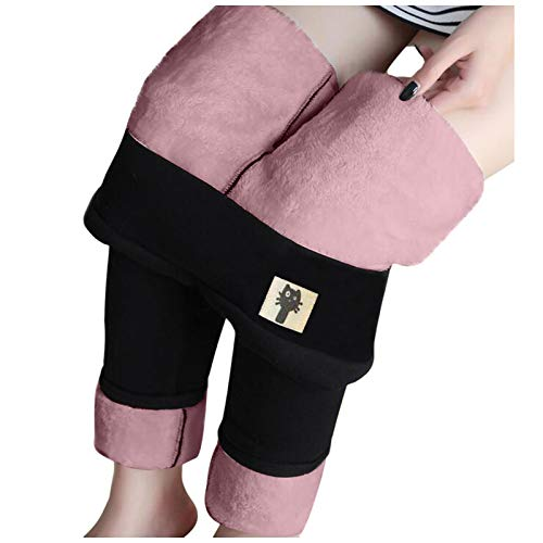 foreverH Leggings Damen Hoher Taille Plus Samt Verdicken Mit Fleece Gefüttert Slim Lange Elastische Yogahosen,Herbst Winter Warm Blickdichte Leggins Thermoleggings
