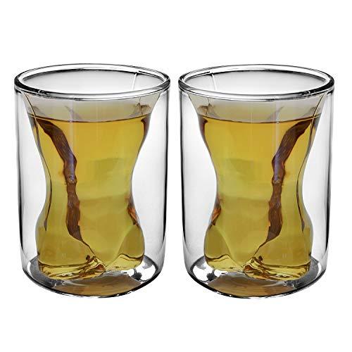 GAOFQ Paar Tassen Naked Muscle Man Weinglas/Getränkebecher/CockGlass/Whiskyglas, 300 ml/Stück, 5,7 Unzen/Stück, 2er-Set