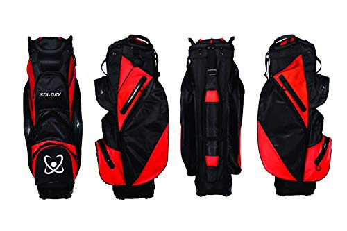 Photo of STA-DRY 100% Waterproof Golf Cart Bag Ultralightweight – Black and Red