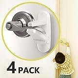 Baby Proofing Childproofing Door Lever Lock [4 Pack] - Outsmart Child Proof Lock for Kids, 3M Adhesive Child Safety Door Handle Lock, Anti Lock-Out Design Door Lock for Bathroom/Bedroom/French Door