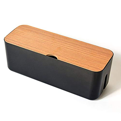 DingCheng 2021 Productos recién lanzados – Caja de almacenamiento de cables Power Strip Wire Case Anti Polvo Socket Organizador (negro)