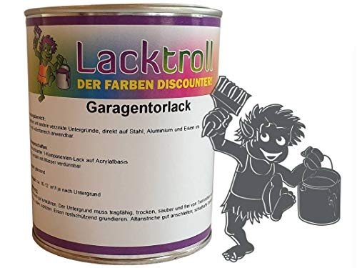 Garagentorlack Basaltgrau RAL 7012 Seidenglanz 750 ml