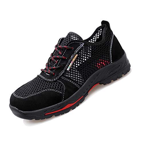 YHHF Ligero Respirable Zapatos de Seguridad de los Hombres, Puntera de Acero Zapatos de Trabajo para el Verano Anti-aplastante Anti-Piercing Calzado Deportivo