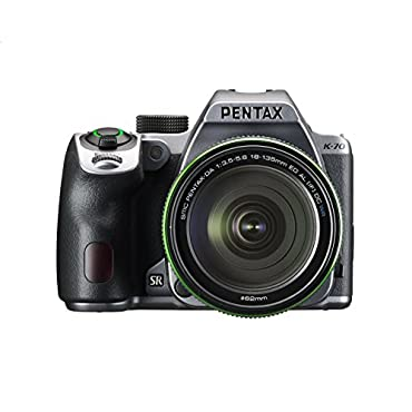 Pentax K-70 Weather-Sealed DSLR Camera with 18-135mm Lens (Silver) 16994