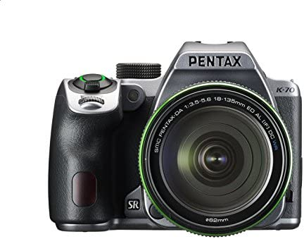Pentax K-70 Weather-Sealed DSLR Camera with 18-135mm Lens (Silver)