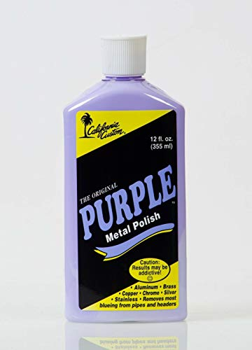 California Custom Products Purple Metal Polish/deoxidizer Combo
