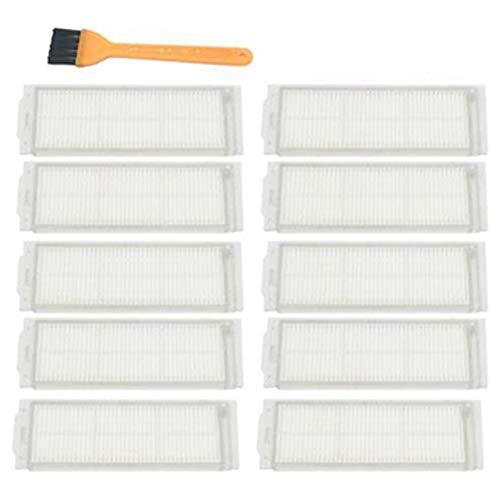 SODIAL 10 PièCes SéRies Kit de Filtre pour Cecotec Conga 3290 3490 3690 Filtre de PièCes de Rechange pour Aspirateur avec Brosse